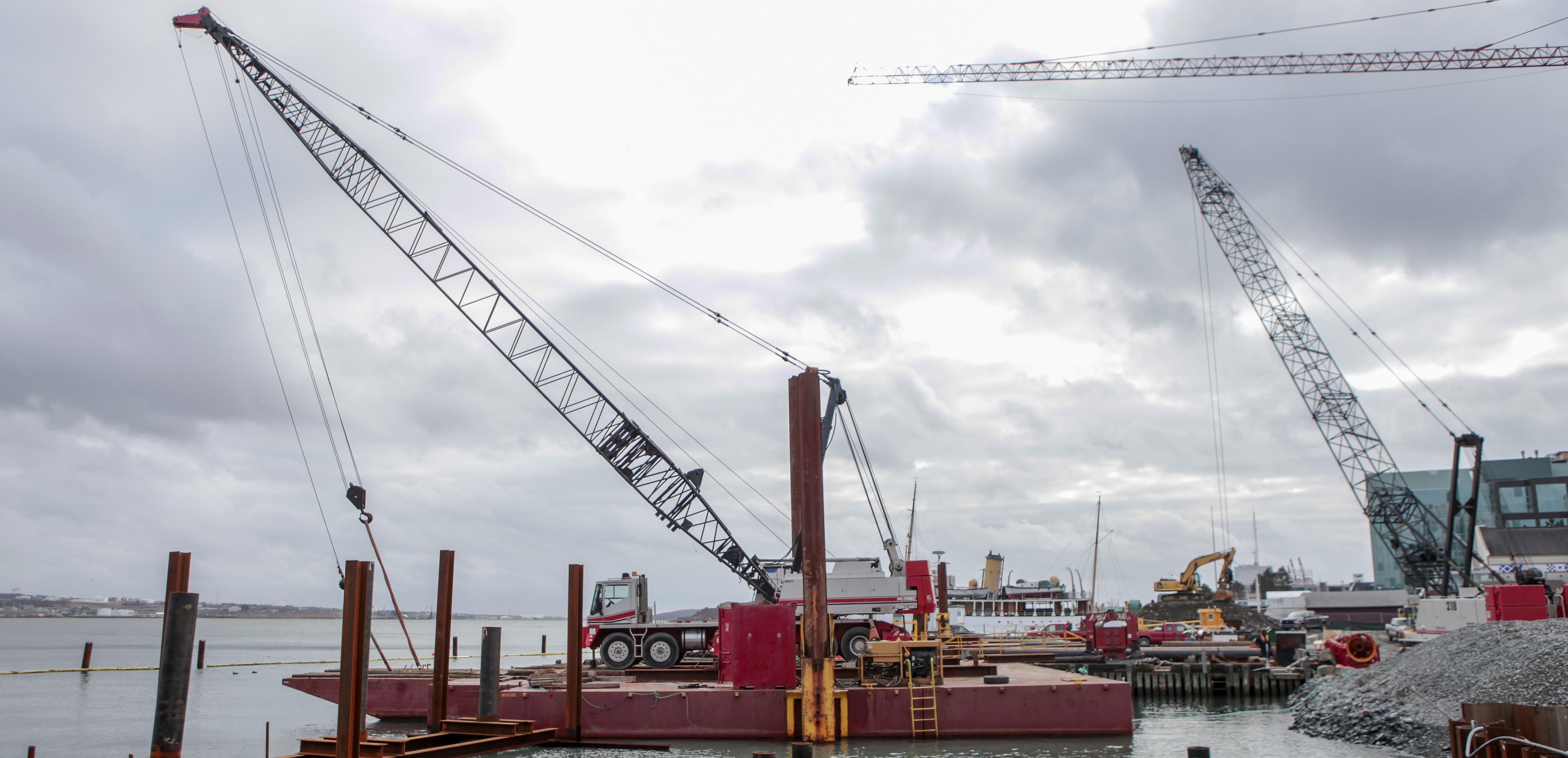 Image of construction crane on Halifax waterfront.
